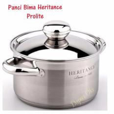 Panci Bima Heritance Prolite Saucepot 24 Cm Tutup Stainless Steel