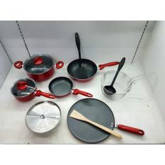 Panci Set Supra Rosemary 12 pcs Merah