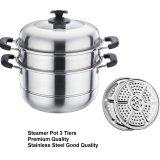 Beli Panci Steamer Pot 3 Tier Panci Kukusan 3 Tingkat Premium Stainless Steel Dki Jakarta