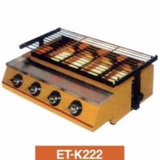 Katalog Panggangan Sosis 4Tungku Getra Et K222 Mesin Panggang Bbq 4 Tungku Kompor Panggang Tanpa Asap Warna Kuning Getra Terbaru