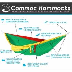 Toko Parachute Hammock Commoc Hammocks Compact L Size Rasta Green Online Di Indonesia