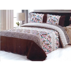 Jual Patchwork Bedcover Cotton Abu Abu Murah Indonesia