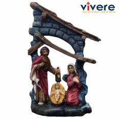 Patung Keluarga Kudus Betlehem 14 cm
