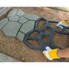 Jual Cetakan Perkerasan Diy Plastik Path Maker Mould Garden Stone Road Beton Mould Secara Manual Paving Cement Brick Cetakan 50 50 4 4 Cm Intl