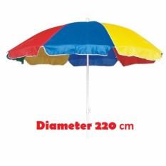 Payung tenda untuk jualan pedagang kaki lima atau taman, cafe, stand dll diameter 220cm pelangi, tenda payung parasol