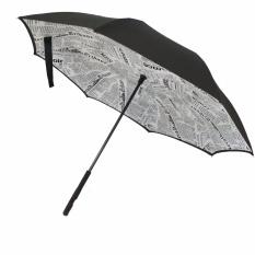 Toko Payung Terbalik Kazbrella Motif White Newspaper 02 Terdekat