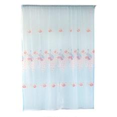 Merak Breathable Printed Balkon Ruang Tamu Curtain (Biru)-Intl