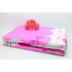 Central Ploso Pelindung Kasur 100X200X20cm Busa Matras Kartun Pink + Sarung Bantal Guling / Sprei Kekinian / Cover Kasur