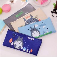 Pencil Case - Tempat Pensil Kanvas - Tempat Pensil Karakter My Neighbor Totoro - Random