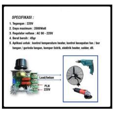 Pengatur Kecepatan/Dimmer AC 220V 2000 Watt
