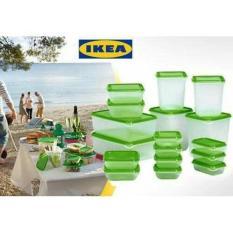Ikea Asli Pruta Food Container Set 17 Pcs / Tempat Makanan / Kotak Makan