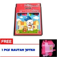 Promo Pensil 24 Warna Dus Cp 24 Pb Free Rautan Joyko