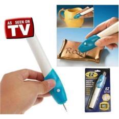 Alat Pengukir Besi Kaca Kayu /Pensil Ukir Grafir Elektrik EZ Engraver