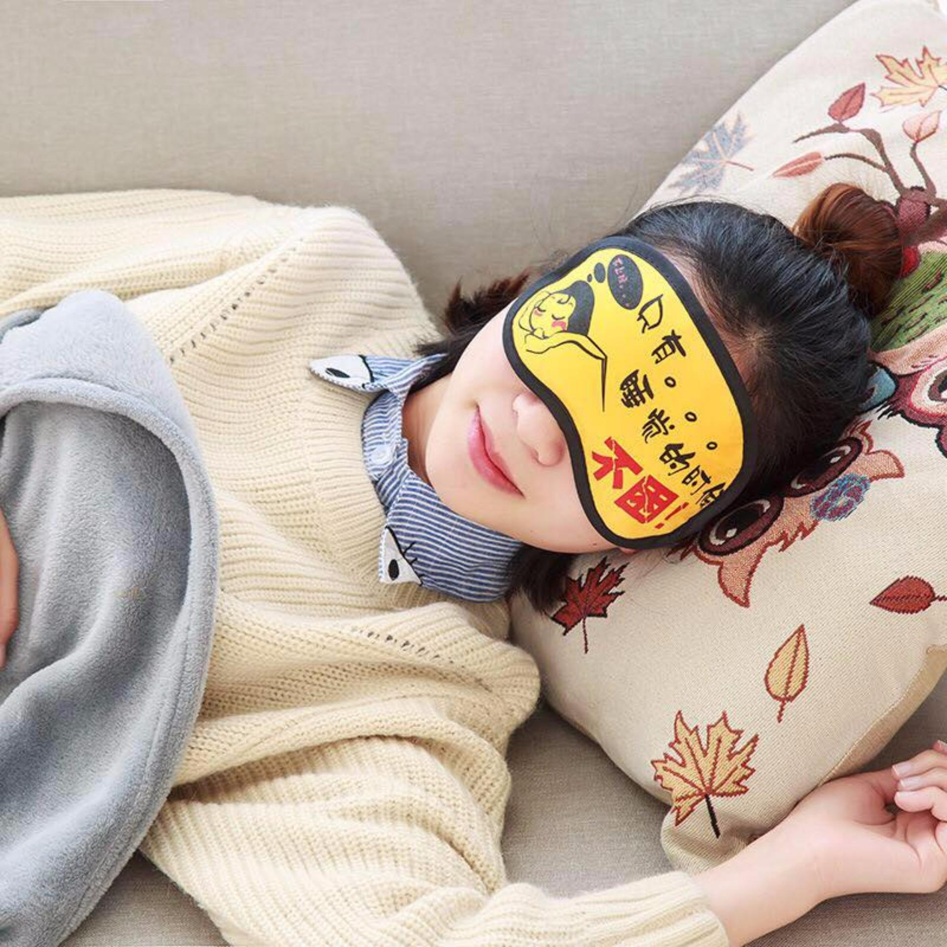 Penutup Mata Ekspresi with Gel Dingin Lembut Masker Tidur Motif Lucu
