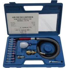 Perkakas Nankai Air Micro Grinder Set Kit - Alat Tuner Gerinda Angin Micro Mini Box Set Kit Perkakas Tool
