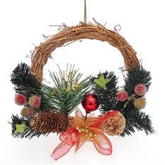 Perlengkapan Dekorasi: 20Cm Rangkaian Bunga Berbahan Rotan Untuk Hiasan Natal PVC