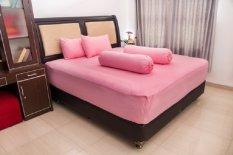 Review Pesona Sprei Polos Katun Cvc Pink 120X200 Terbaru