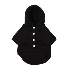 Bulu Hewan Peliharaan Saku Baju Hoodie (Hitam-XL)