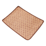 Jual Pet Dog Summer Jerami Bambu Nyaman Sleeping Mat Brown Online