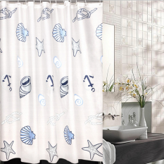 Mimosifolia PEVA Shower Curtain Waterproof anti-jamur tirai kamar mandi terpisah 180X180cm - Intl