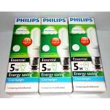 Spek Philips Essential 5 Watt Cdl Putih 3 Pcs