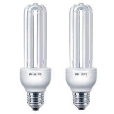 Philips Essential - Lampu Hemat Energi - 23W E27 - 2 Pcs - Kuning