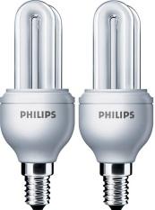 Philips Genie 5W WW E14 - Lampu Hemat Energi - Kuning - 2pcs
