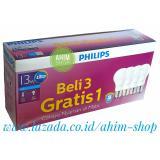 Beli Philips Lampu Led Bulb 13W 100W Paket Beli 3 Gratis 1 Cahaya Nyaman Di Mata Cool Daylight Putih Murah