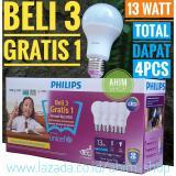 Harga Philips Lampu Led Bulb 13W Unicef Beli 3 Gratis 1 Cool Daylight Putih Philips Original