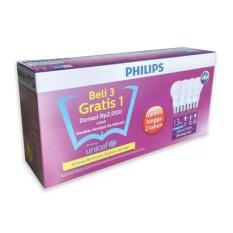 Beli Philips Led Bulb 13W Unicef Beli 3 Gratis 1 Putih Phillips Online