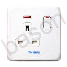 PHILIPS Simply AC Socket | Stop Kontak UK dengan switch on off