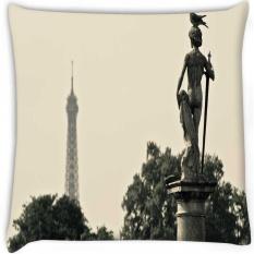 Pigeon dan Patung Secara Digital Dicetak Cushion Cover Pillow 16x16 Inci-Intl