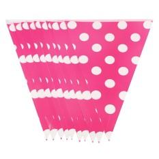 Pink Polkadot Flag Banner