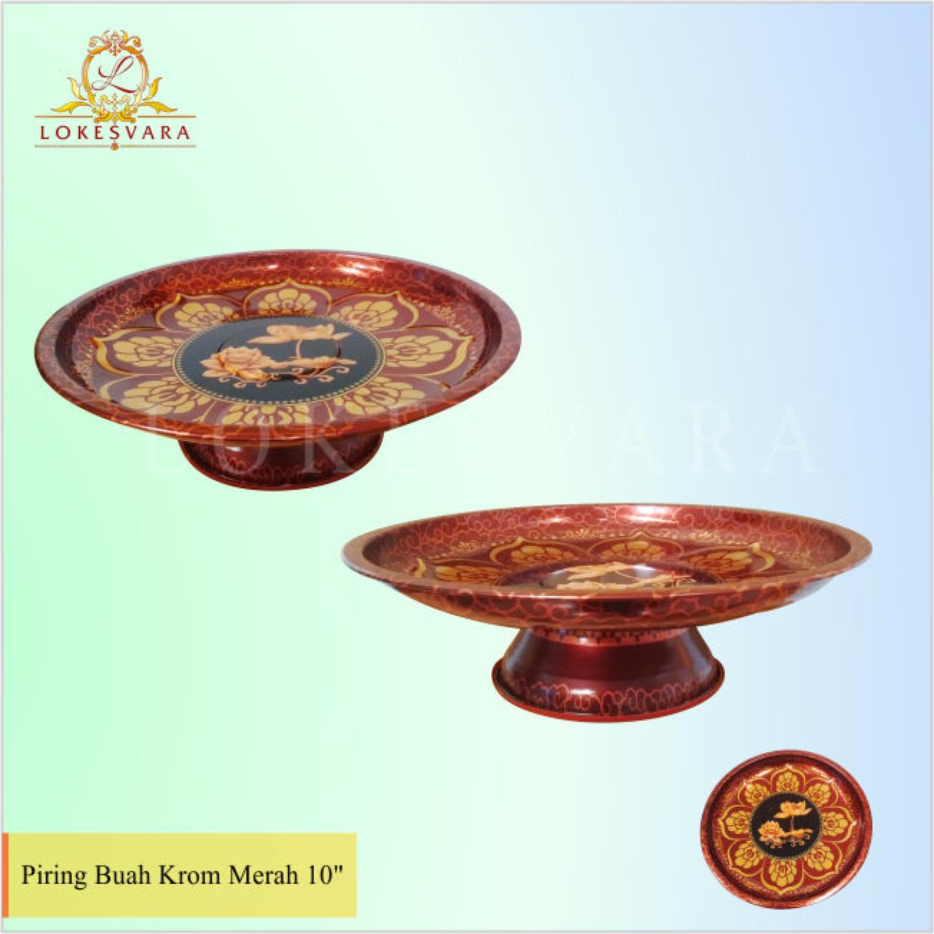 Harga preferensial Piring Buah Krom Merah 10inch terbaik murah - Hanya Rp61.200