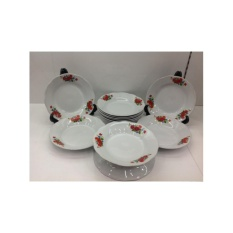 Spesifikasi Piring Makan 8 Rose Keramik Lusin Dan Harganya