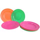 Spesifikasi Piring Makan Plastik Cantik Set 12Pieces Fullcolour Murah Berkualitas