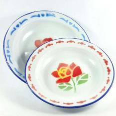 Piring Seng Jadul- Vintage - Warna Random Sesuai stok - 1 lusin