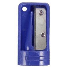 Plastik Carpenter Kayu Rautan Pensil Cutter Alat Cukur Sempit Alat Penajam Biru