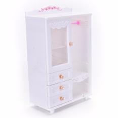 Plastic Furniture Ruang Tamu Lemari Pakaian untuk Barbie Dollhouse Aksesoris Kualitas Mainan-Intl