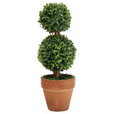 Ulasan Lengkap Tentang Plastic Garden Grass Ball Topiary Tree Pot Dried Green Plant For Wedding Party Double Balls