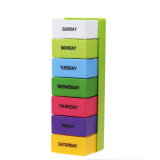 Diskon Plastik Portable Pill Box Mingguan 7 Hari Colorful Holder 28 Slot Medicine Vakind Di Tiongkok