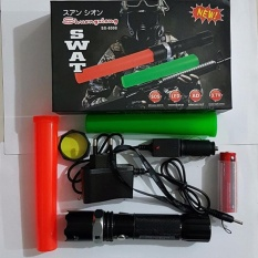 Police Senter Swat 99000 w LED Cree Rechargable  - Hitam