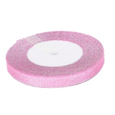 Pop 10mm 25yards Organza Ribbon Apparel Sewing Fabric Diy Package Wedding Decor Pink - intl