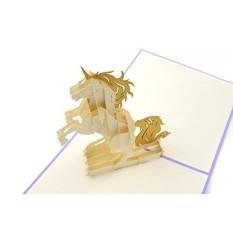 Poplife Warna-warni Unicorn 3D Perhatian Hingga Kartu Ucapan untuk Semua Kesempatan-Pecinta Hewan, Pelangi Theme, sihir Makhluk-Lipat Datar, Cocok untuk Surat-Ulang Tahun, Wisuda, Terima Kasih, hari Ibu-Internasional