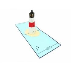 PopLife Pulau Mercusuar 3D Pop Up Kartu Ucapan untuk Semua Kesempatan-Traveler, Pesisir dan Pecinta Petualangan-Lipat Rata untuk Dikirim-Ulang Tahun, Hari Ibu, Wisuda, Pensiun, Ulang Tahun-Intl