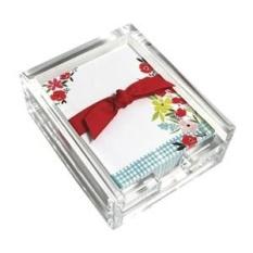 Poppy Garden Acrylic Meja CATATAN Set, Lembar Memo dan Pemegang Akrilik, 150 Catatan Makalah, 3.25X4.25