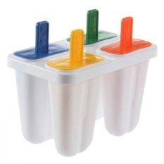 Popsicle Maker Cetakan DIY Ice Cream Freezer 4 Pcs-Intl