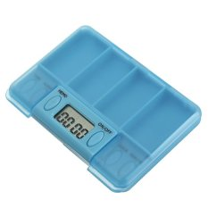 Spek Portable Digital Pill Medicine Tablets Case Box Reminder Container Clock Alarm Indonesia