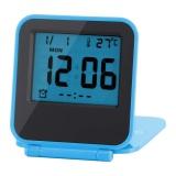 Jual Portable Foldable Meja Travel Digital Alarm Clock Dengan Kalender Suhu Biru Intl Branded Original