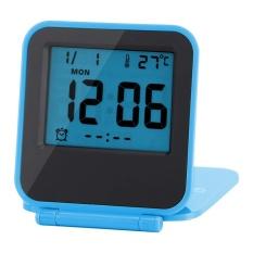 Beli Portable Foldable Meja Travel Digital Alarm Clock Dengan Kalender Suhu Biru Intl Online Murah